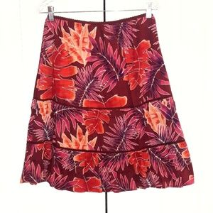 St. John's Bay Foliage Gypsy Skirt Sz M